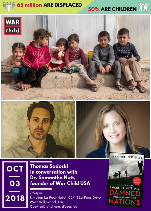 Thomas Sadoski in conversation with Dr. Samantha Nutt, founder of War Child USA
